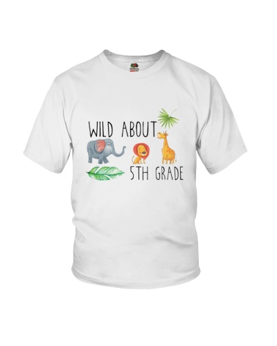 Wild About 5th Grade Fifth Jungle Shirt