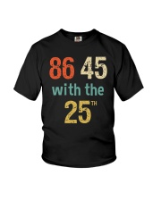 86 45 with the 25th Retro Vintage Shirt Youth T-Shirt thumbnail