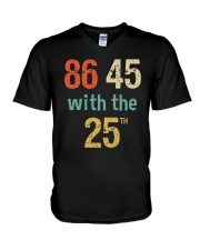 86 45 with the 25th Retro Vintage Shirt V-Neck T-Shirt tile
