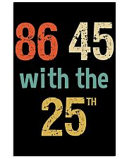 86 45 with the 25th Retro Vintage Shirt 24x36 Poster thumbnail