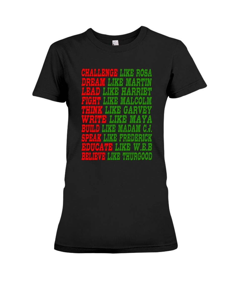Black History Month Tee Shirts Premium Fit Ladies Tee