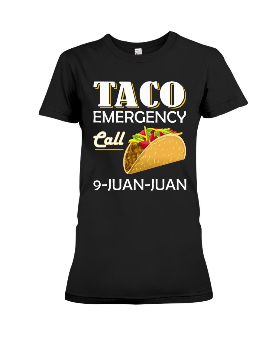 Emergency Call 9 Juan Juan Tee Shirt Premium Fit Ladies Tee