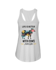 Life is Better With Cows Around Shirt Ladies Flowy Tank thumbnail