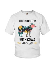 Life is Better With Cows Around Shirt Youth T-Shirt thumbnail