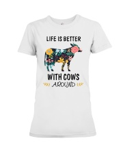 Life is Better With Cows Around Shirt Premium Fit Ladies Tee thumbnail