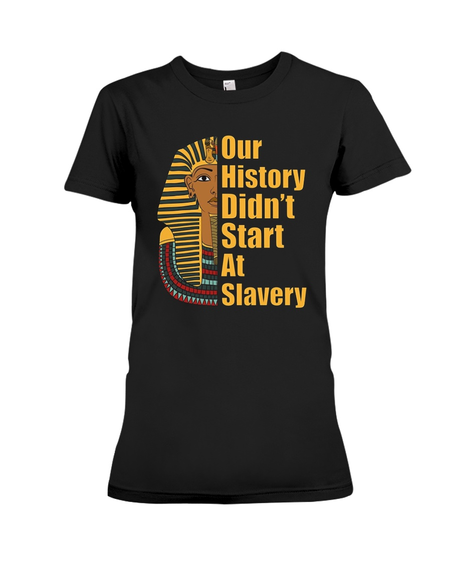 Woman Man Black History Month T-Shirt Premium Fit Ladies Tee