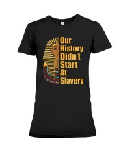Woman Man Black History Month T-Shirt Premium Fit Ladies Tee front
