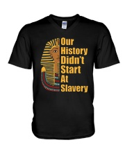 Woman Man Black History Month T-Shirt V-Neck T-Shirt thumbnail