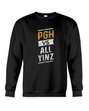 Pittsburgh Vs All Yinz Tee Shirt Crewneck Sweatshirt thumbnail