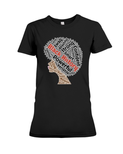 Black History Month Afro Natural T-Shirt