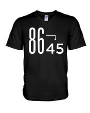 86 45 Anti Trump Impeach T-Shirt V-Neck T-Shirt thumbnail