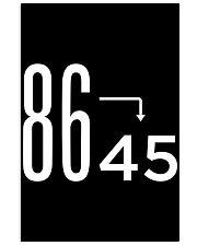 86 45 Anti Trump Impeach T-Shirt 24x36 Poster thumbnail