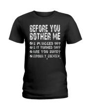 Computer Smartphone Questions Shirts Ladies T-Shirt thumbnail