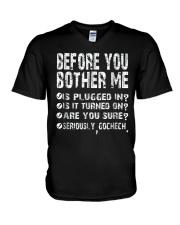 Computer Smartphone Questions Shirts V-Neck T-Shirt thumbnail