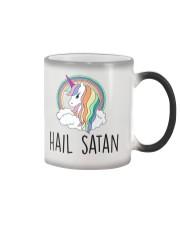 Hail Satan Cute Funny Unicorn Shirt Color Changing Mug thumbnail