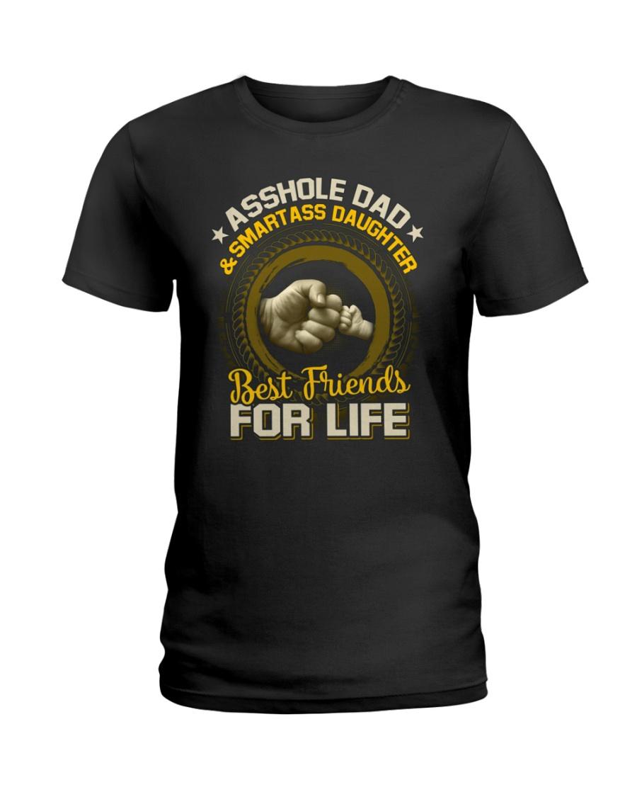 Asshole Dad And Smartass Daughter TShirt Ladies T-Shirt