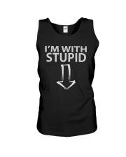 I'm With Stupid Shirts Unisex Tank thumbnail
