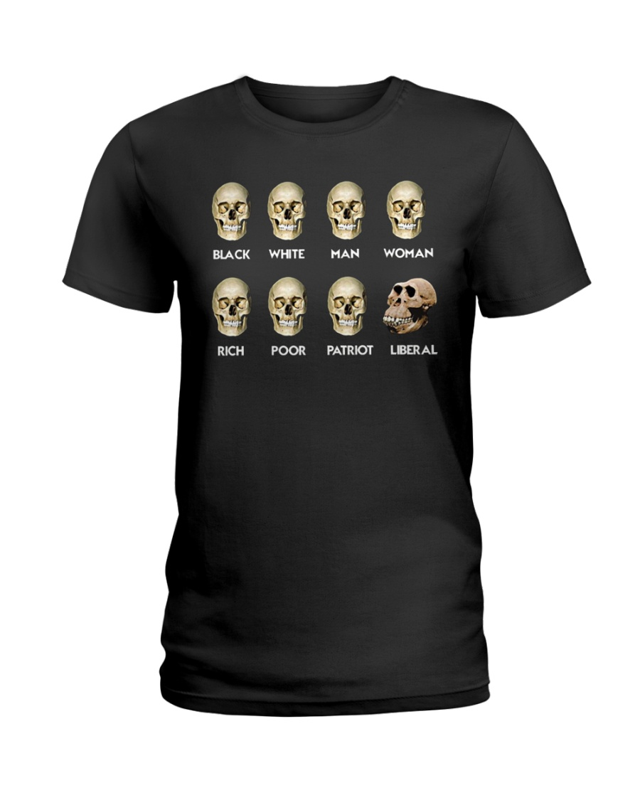 Black White Man Woman Rich T-Shirt Ladies T-Shirt