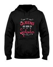 Queens Are Born In September Birthday T-shirt Hooded Sweatshirt thumbnail