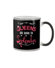 Queens Are Born In September Birthday T-shirt Color Changing Mug thumbnail