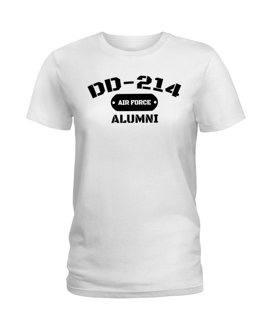 DD-214 US Air Force Alumni T-Shirt Ladies T-Shirt