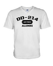 DD-214 US Air Force Alumni T-Shirt V-Neck T-Shirt thumbnail