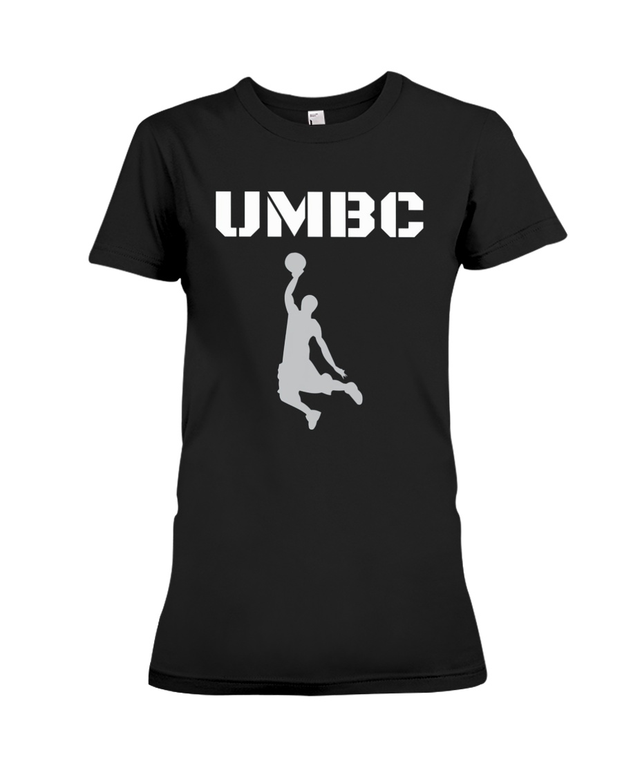 UMBC Retrievers Basketball Shirt Premium Fit Ladies Tee