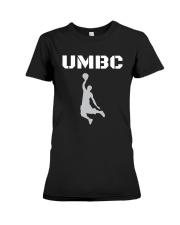 UMBC Retrievers Basketball Shirt Premium Fit Ladies Tee front