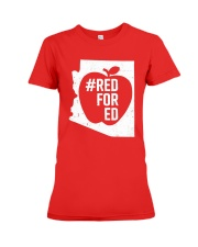 Red for Education Arizona T-Shirt Premium Fit Ladies Tee front