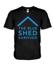 The Blue Shed Survived Hurricane Harvey T-Shirt V-Neck T-Shirt thumbnail