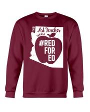 Arizona Teacher Tee Shirt Red For Ed Crewneck Sweatshirt thumbnail