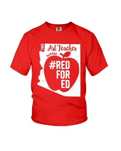 Arizona Teacher Tee Shirt Red For Ed