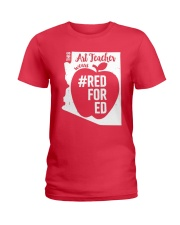 Arizona Teacher Tee Shirt Red For Ed Ladies T-Shirt thumbnail