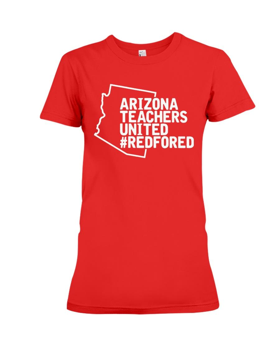 Arizona Teachers United REDforED Shirt Premium Fit Ladies Tee