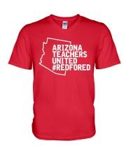 Arizona Teachers United REDforED Shirt V-Neck T-Shirt thumbnail