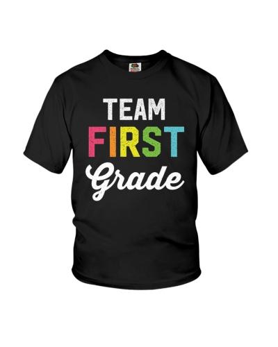 Team 1st First Grade Teacher Back To School Tee
