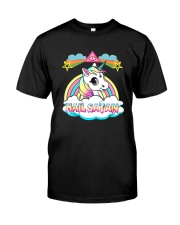 Unicorn hail satan death metal rainbown t-shirt Classic T-Shirt thumbnail