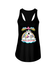 Unicorn hail satan death metal rainbown t-shirt Ladies Flowy Tank thumbnail