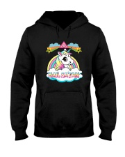 Unicorn hail satan death metal rainbown t-shirt Hooded Sweatshirt thumbnail