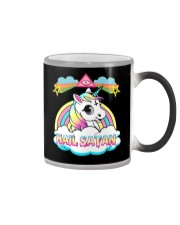 Unicorn hail satan death metal rainbown t-shirt Color Changing Mug thumbnail