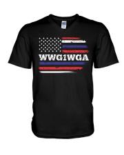 WWG1WGA Qnon Political T-Shirt V-Neck T-Shirt thumbnail