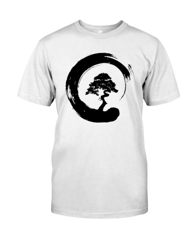 Bonsai Tree in Enso Circle Hoodie