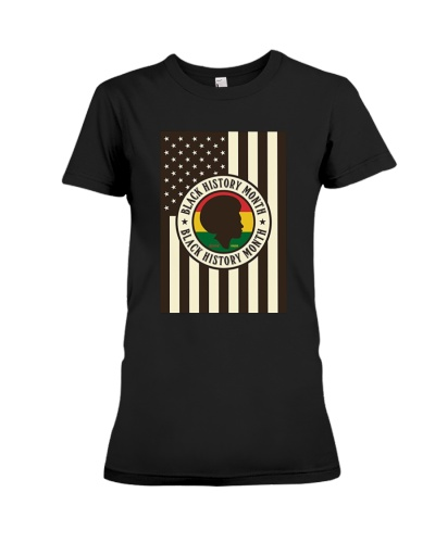 Black History Month Flag T-shirt