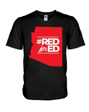 Hashtag Red For Ed Shirt V-Neck T-Shirt thumbnail