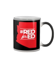 Hashtag Red For Ed Shirt Color Changing Mug tile