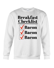 Breakfast Checklist Funny T-Shirt Crewneck Sweatshirt thumbnail