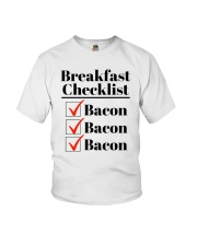 Breakfast Checklist Funny T-Shirt Youth T-Shirt thumbnail