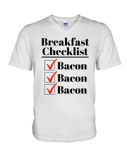 Breakfast Checklist Funny T-Shirt V-Neck T-Shirt thumbnail