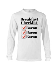 Breakfast Checklist Funny T-Shirt Long Sleeve Tee thumbnail