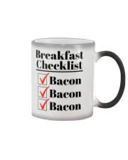 Breakfast Checklist Funny T-Shirt Color Changing Mug thumbnail